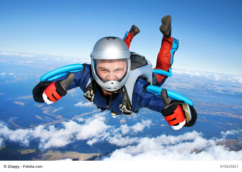 Fliegen, Fallschirm, Chef, Mitarbeiter, Unternehmen, Torsten Osthus